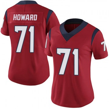 Women's Nike Houston Texans Tytus Howard Red Alternate Vapor Untouchable Jersey - Limited