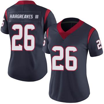 Women's Nike Houston Texans Vernon Hargreaves III Navy 100th Vapor Jersey - Limited