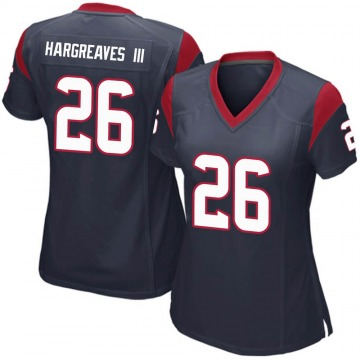 Women's Nike Houston Texans Vernon Hargreaves III Navy Blue Team Color Jersey - Game