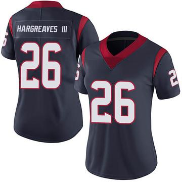 Women's Nike Houston Texans Vernon Hargreaves III Navy Blue Team Color Vapor Untouchable Jersey - Limited