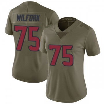 Women's Nike Houston Texans Vince Wilfork Green 2017 Salute to Service Jersey - Limited
