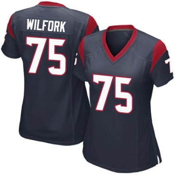 Women's Nike Houston Texans Vince Wilfork Navy Blue Team Color Jersey - Game