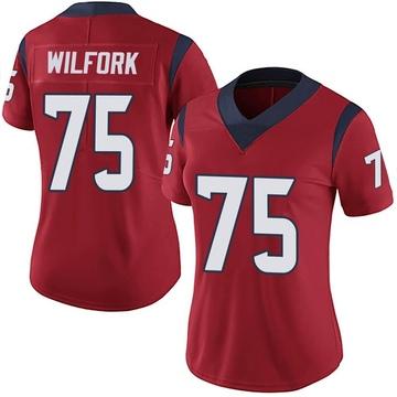 Women's Nike Houston Texans Vince Wilfork Red Alternate Vapor Untouchable Jersey - Limited