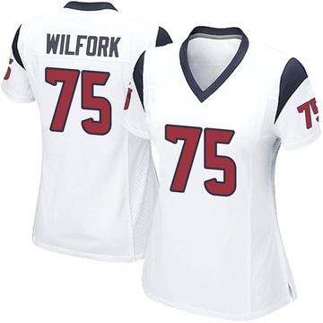 Women's Nike Houston Texans Vince Wilfork White Jersey - Game