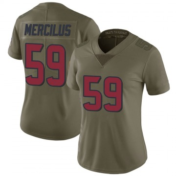 Women's Nike Houston Texans Whitney Mercilus Green 2017 Salute to Service Jersey - Limited