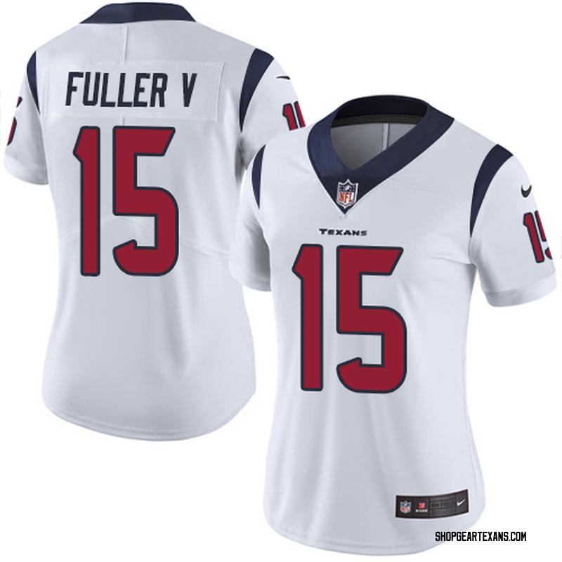 outlet store 076e8 8b838 Women's Nike Houston Texans Will Fuller V White Jersey - Limited