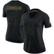 Women's Nike Houston Texans Zach Cunningham Black 2020 Salute To Service Jersey - Limited