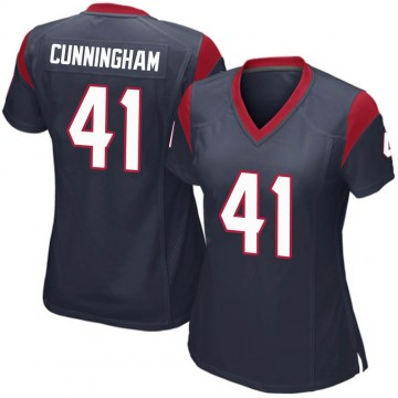 Women's Nike Houston Texans Zach Cunningham Navy Blue Team Color Jersey - Game