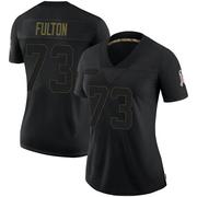 Women's Nike Houston Texans Zach Fulton Black 2020 Salute To Service Jersey - Limited