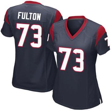 Women's Nike Houston Texans Zach Fulton Navy Blue Team Color Jersey - Game