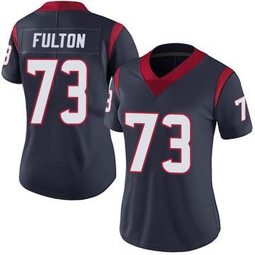 Women's Nike Houston Texans Zach Fulton Navy Blue Team Color Vapor Untouchable Jersey - Limited