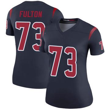 Women's Nike Houston Texans Zach Fulton Navy Color Rush Jersey - Legend