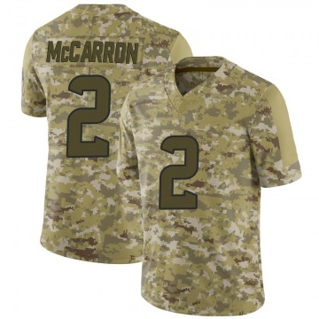 Youth Nike Houston Texans AJ McCarron Camo 2018 Salute to Service Jersey - Limited