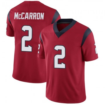 Youth Nike Houston Texans AJ McCarron Red Alternate Vapor Untouchable Jersey - Limited