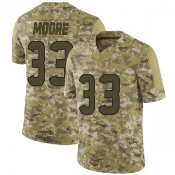 Youth Nike Houston Texans A.J. Moore Camo 2018 Salute to Service Jersey - Limited