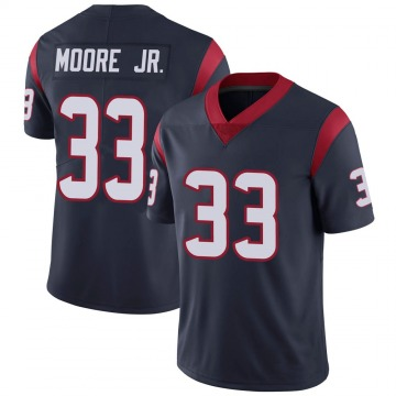 Youth Nike Houston Texans A.J. Moore Navy 100th Vapor Jersey - Limited
