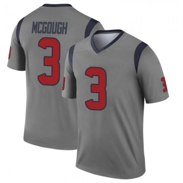 Youth Nike Houston Texans Alex McGough Gray Inverted Jersey - Legend