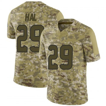 Youth Nike Houston Texans Andre Hal Camo 2018 Salute to Service Jersey - Limited