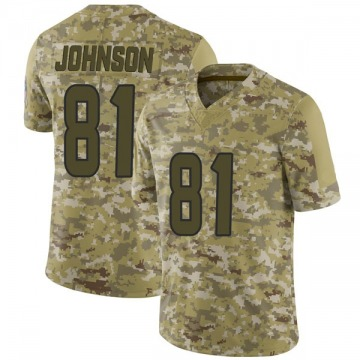 Youth Nike Houston Texans Andre Johnson Camo 2018 Salute to Service Jersey - Limited