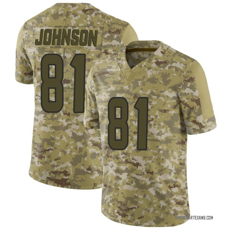 best loved 69595 a2118 Youth Nike Houston Texans Andre Johnson Camo 2018 Salute to Service Jersey  - Limited