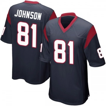 Youth Nike Houston Texans Andre Johnson Navy Blue Team Color Jersey - Game