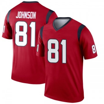 Youth Nike Houston Texans Andre Johnson Red Jersey - Legend