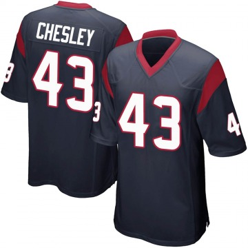 Youth Nike Houston Texans Anthony Chesley Navy Blue Team Color Jersey - Game