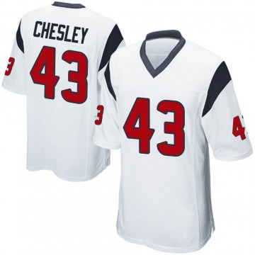 Youth Nike Houston Texans Anthony Chesley White Jersey - Game