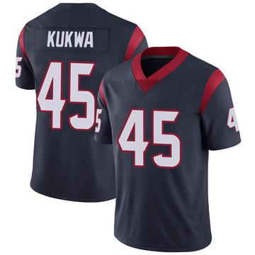 Youth Nike Houston Texans Anthony Kukwa Navy 100th Vapor Jersey - Limited