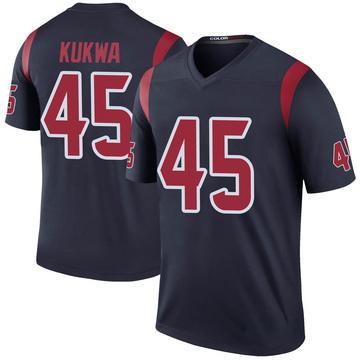 Youth Nike Houston Texans Anthony Kukwa Navy Color Rush Jersey - Legend