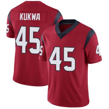 Youth Nike Houston Texans Anthony Kukwa Red Alternate Vapor Untouchable Jersey - Limited