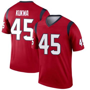 Youth Nike Houston Texans Anthony Kukwa Red Jersey - Legend