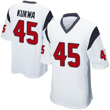 Youth Nike Houston Texans Anthony Kukwa White Jersey - Game
