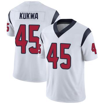 Youth Nike Houston Texans Anthony Kukwa White Vapor Untouchable Jersey - Limited