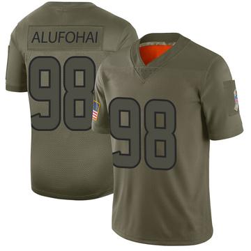 Youth Nike Houston Texans Auzoyah Alufohai Camo 2019 Salute to Service Jersey - Limited