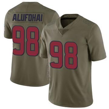 Youth Nike Houston Texans Auzoyah Alufohai Green 2017 Salute to Service Jersey - Limited