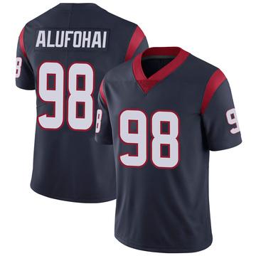 Youth Nike Houston Texans Auzoyah Alufohai Navy 100th Vapor Jersey - Limited