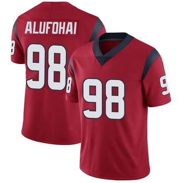 Youth Nike Houston Texans Auzoyah Alufohai Red Alternate Vapor Untouchable Jersey - Limited