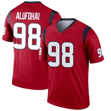 Youth Nike Houston Texans Auzoyah Alufohai Red Jersey - Legend