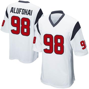 Youth Nike Houston Texans Auzoyah Alufohai White Jersey - Game