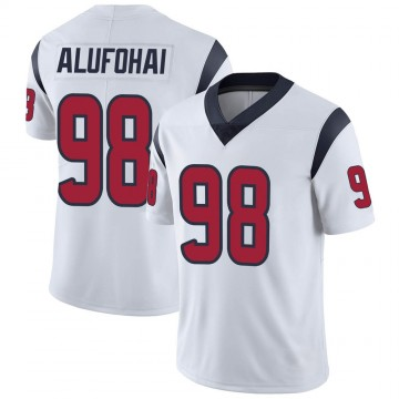 Youth Nike Houston Texans Auzoyah Alufohai White Vapor Untouchable Jersey - Limited