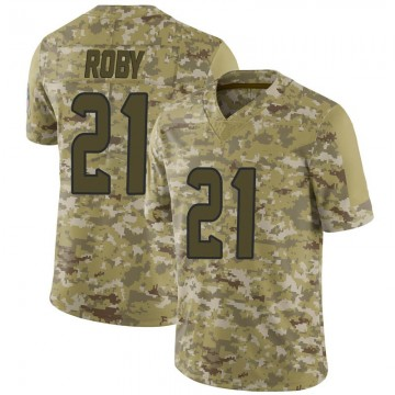 Youth Nike Houston Texans Bradley Roby Camo 2018 Salute to Service Jersey - Limited