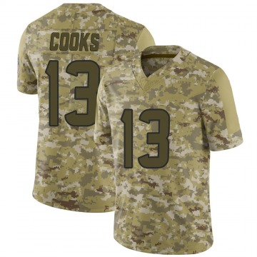 Youth Nike Houston Texans Brandin Cooks Camo 2018 Salute to Service Jersey - Limited