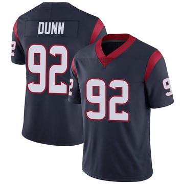 Youth Nike Houston Texans Brandon Dunn Navy 100th Vapor Jersey - Limited