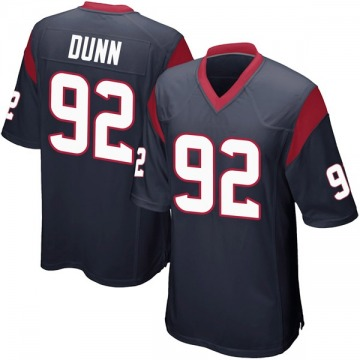 Youth Nike Houston Texans Brandon Dunn Navy Blue Team Color Jersey - Game