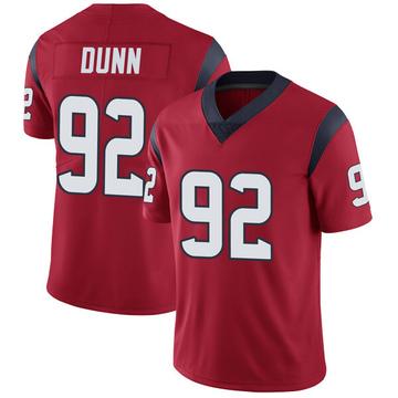 Youth Nike Houston Texans Brandon Dunn Red Alternate Vapor Untouchable Jersey - Limited