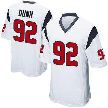 Youth Nike Houston Texans Brandon Dunn White Jersey - Game