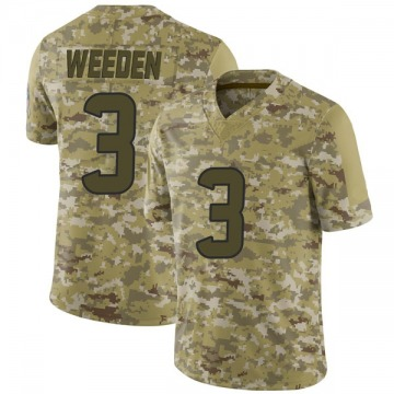 Youth Nike Houston Texans Brandon Weeden Camo 2018 Salute to Service Jersey - Limited