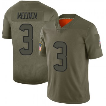 Youth Nike Houston Texans Brandon Weeden Camo 2019 Salute to Service Jersey - Limited