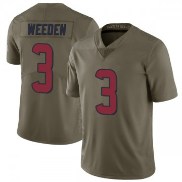 Youth Nike Houston Texans Brandon Weeden Green 2017 Salute to Service Jersey - Limited